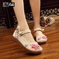 Мода китайские Вышитые Тан костюм обувь женщины Повседневная балетки обувь оксфорд обувь для женщин пары тапочек мокасины ходить