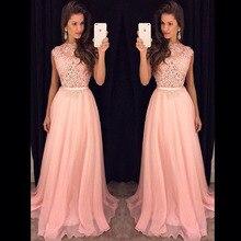 Лонго продажу феста длинное кружевной выпускного вечера vestido вечернее элегантный женщина