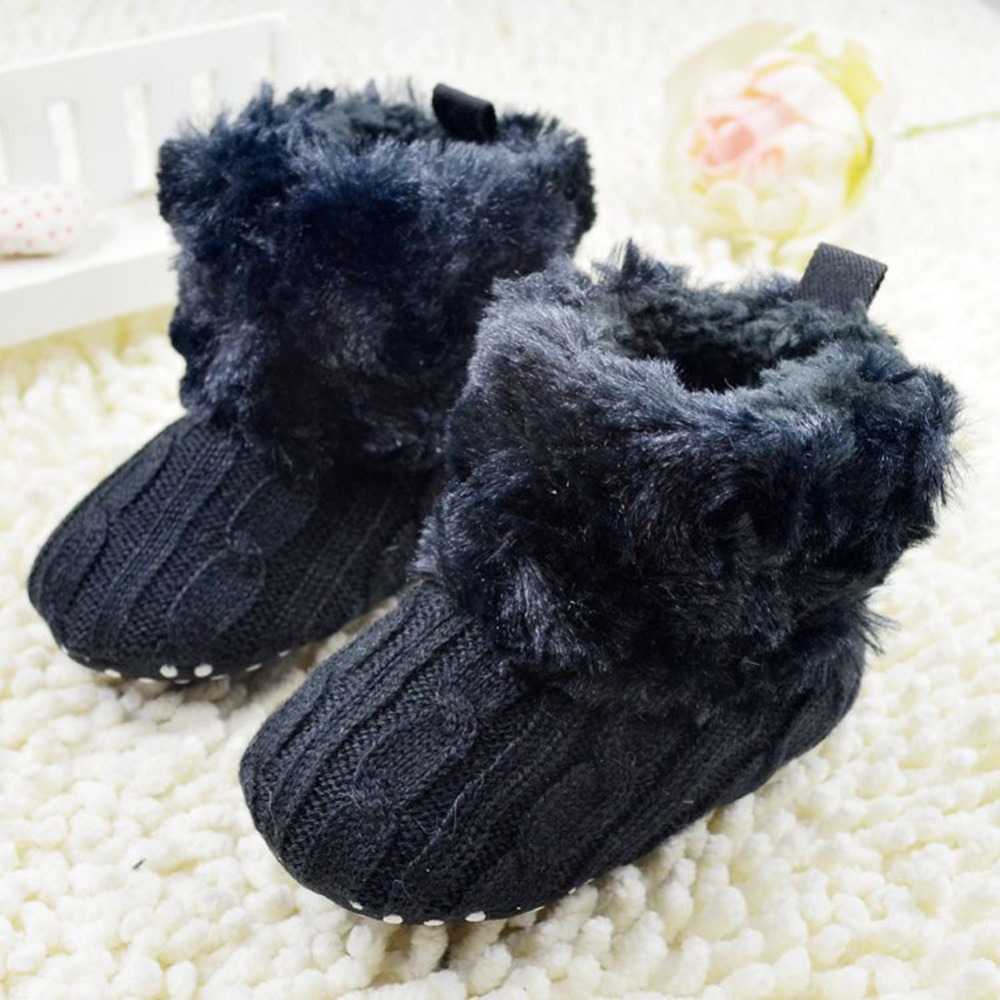 Infant-Baby-First-walkers-CrochetKnit-Boots-Booties-Toddler-Girl-Winter-Snow-Crib-Shoes-5
