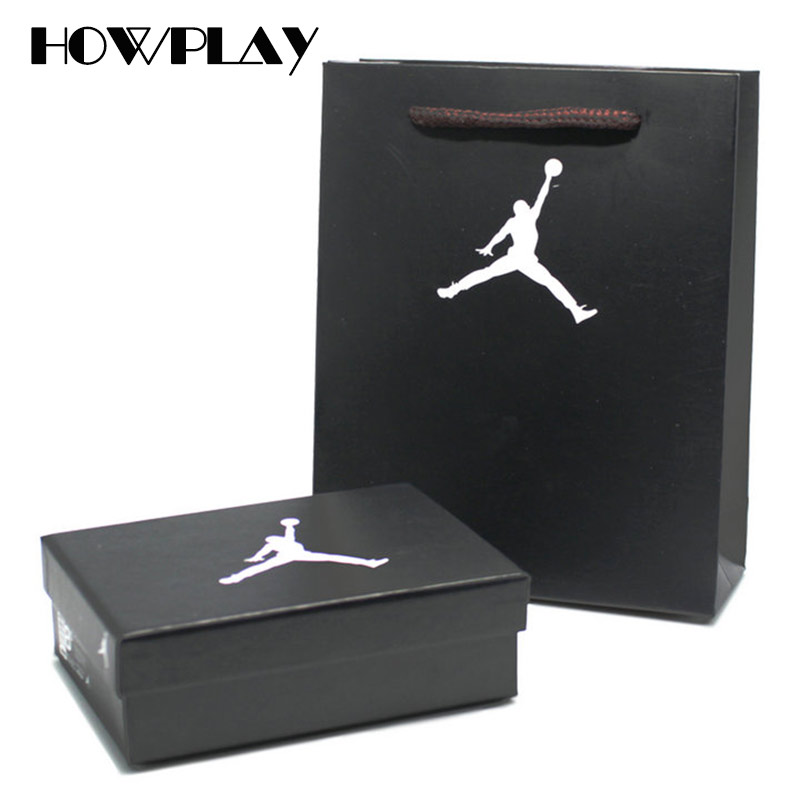 newest 5facf e66f8 Aliexpress.com   Buy HowPlay Three dimensional Keychain Backpack Pendant AJ  Series Basketball Shoes box paper bag for Air Jordan Model Shoes Box from  ...