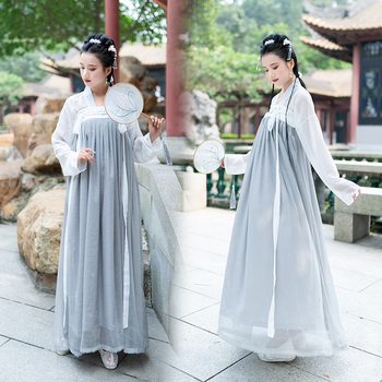 Hanfu Costume Chinese Style Women Clothes Chinese Ancient And Traditional Hanfu Costume Folk Dance Performance Outfit DQL1097