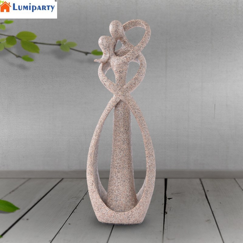 LumiParty Lovers Statue House Decorations Sandstone Figurine Handcrafted Abstract Figure Resin Home Decor-25