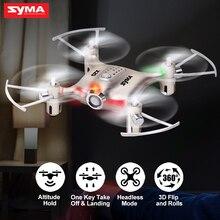 X20 Mini Drone Syma 6 aixs Ouro 2.4G 4CH Helicóptero de Controle Remoto Quadcopter Gyro Bolso RC Dron 3D flip Brinquedos Para Crianças presente
