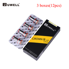 12pcs Original Uwell Crown III Coil Head electronic cigarette SUS316 0.25ohm 0.5ohm 0.4ohm coil for Uwell Crown III Tank