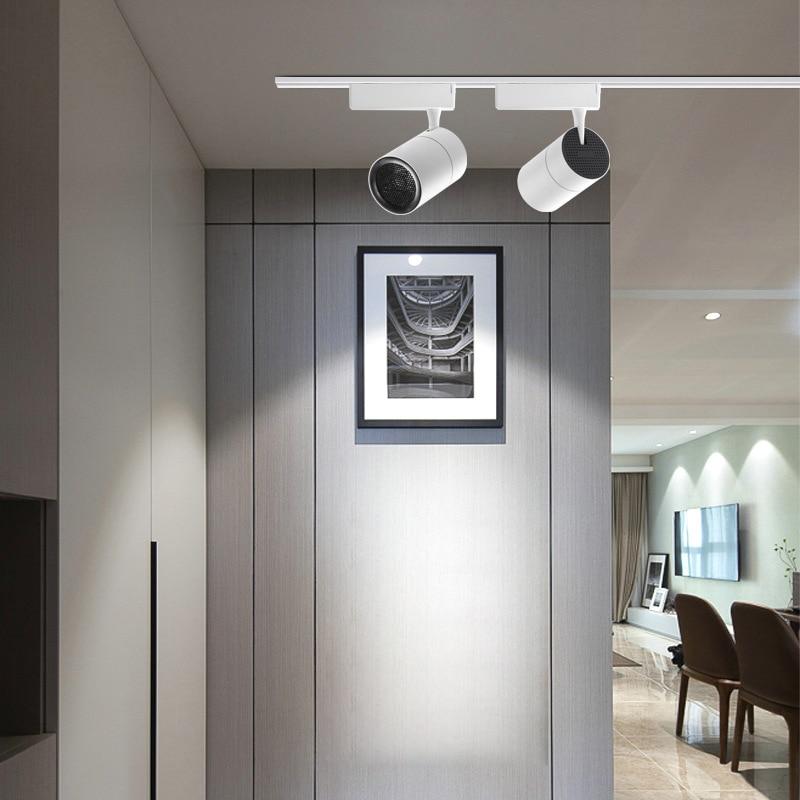 DONWEI NEW 40W COB led tracking rail lamp Ceiling leds spotlights lighting fixture for shop store spot lighting AC110 220V|Track Lighting| |  - title=