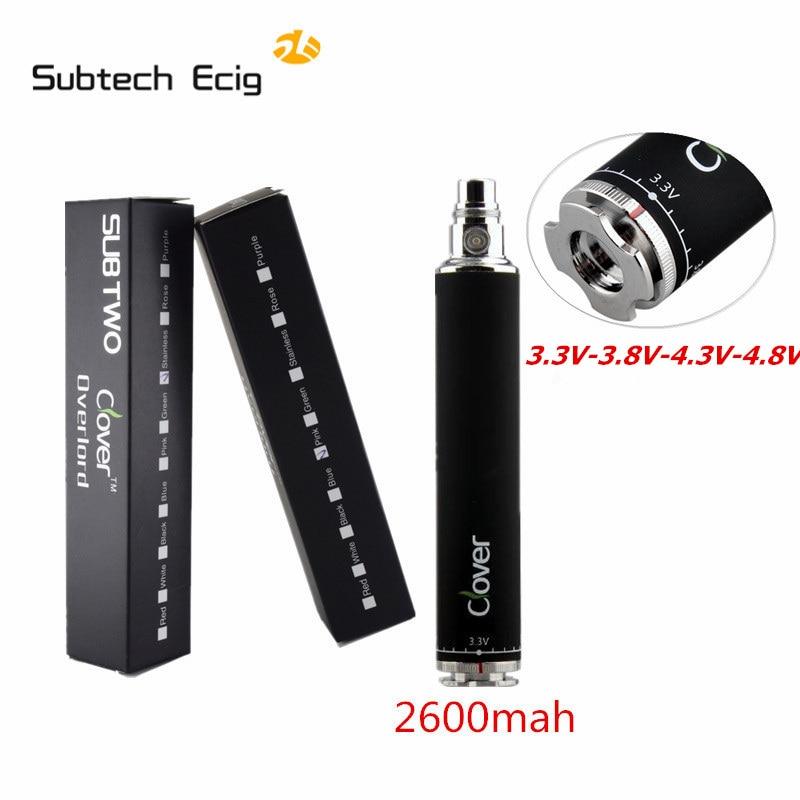 Elektronische zigarette Klee Ober 2600 mah batterie V-4 3.8V-4,3 V-4,8 V Variabler Spannung verdampfer batterie riesige Kapazität Vape