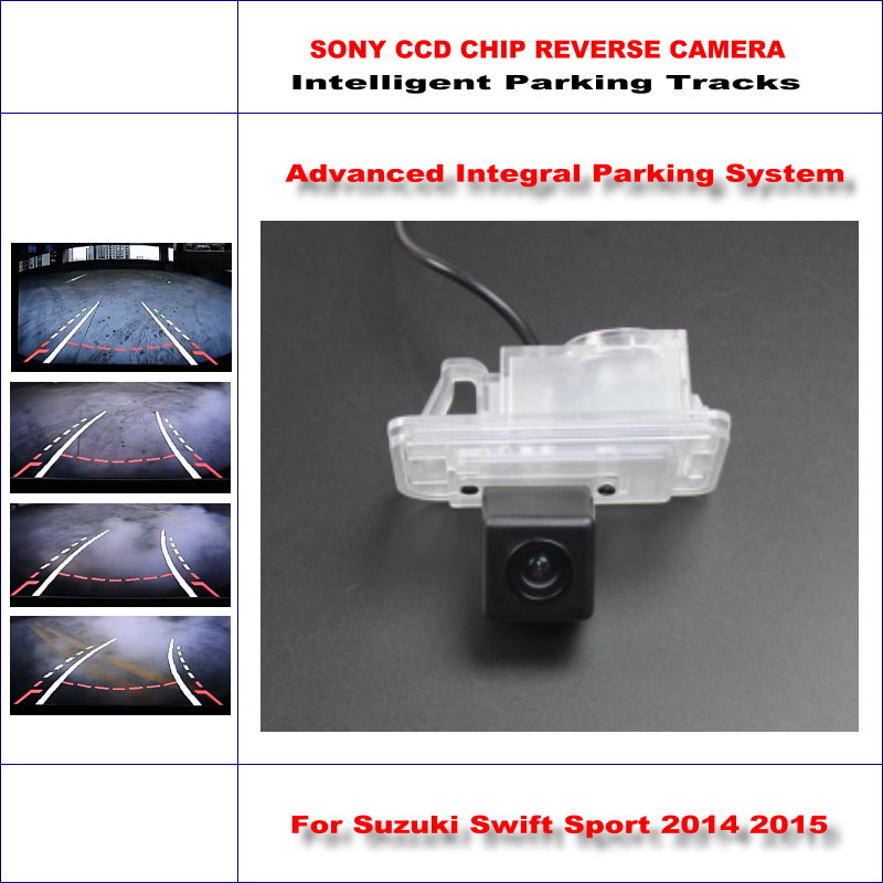Rear Camera For Suzuki Swift Sport 2014 2015 Intelligent Parking Tracks Backup Reverse 580 TV Lines Dynamic Guidance Tragectory цена 2017