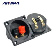 Aiyima 2 個スピーカー端子箱スプバインディングポストパネル diy アクセサリーキット