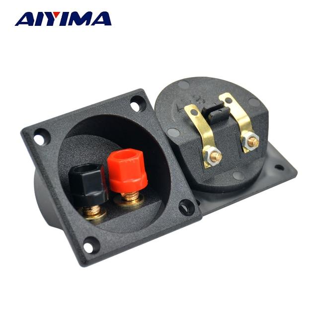 Aiyima 2pcs Speaker terminal box splicing fitting binding post panel diy accessories kit