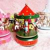 7 Colors Merry Go Round Music Box Carousel Birthday Christmas Gift Wedding Christmas Decoration Wood Craft