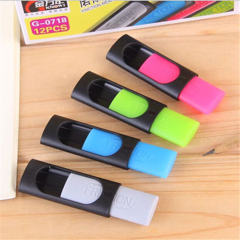2pcs Ink Eraser Friction Erasable Pen 50mm*20mm Rubber Eraser Creative Stationery Kids Gift School & Office Supplies