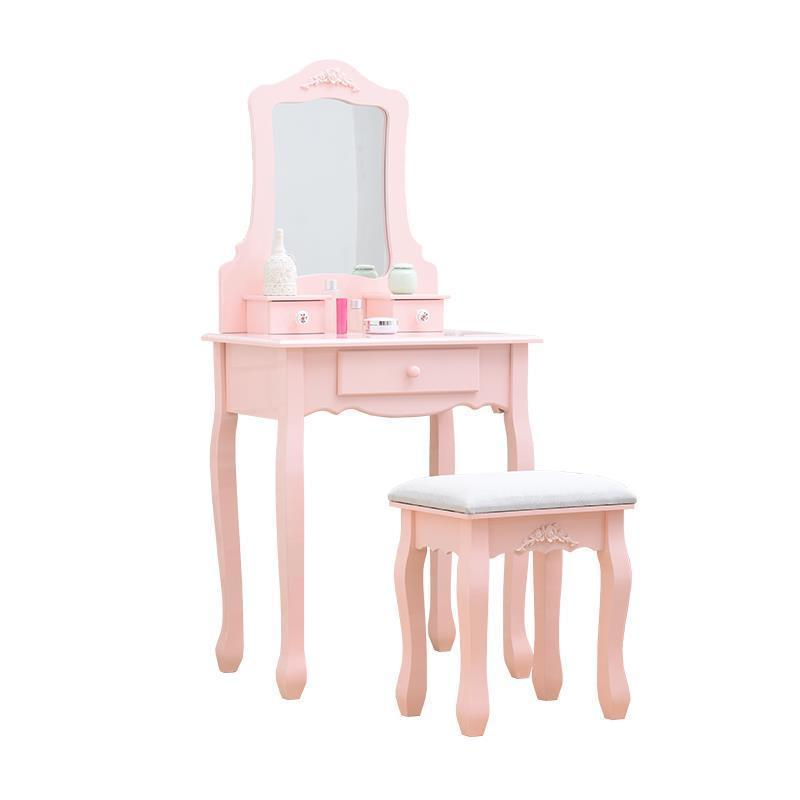 Para El Dormitorio Makeup Box Drawer Tablo Dresser Mesa European Wooden Quarto Bedroom Furniture Penteadeira Dressing Table dressing table makeup desk dresser 1 mirror 4 drawers european bedroom furniture make up mesa bedroom penteadeira with stool