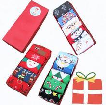 5Pair/lot Fashion Unisex Xmas Women Men Sock Winter Warm Socks Cute Snowflake Deer Comfortable Christmas Gift No Box