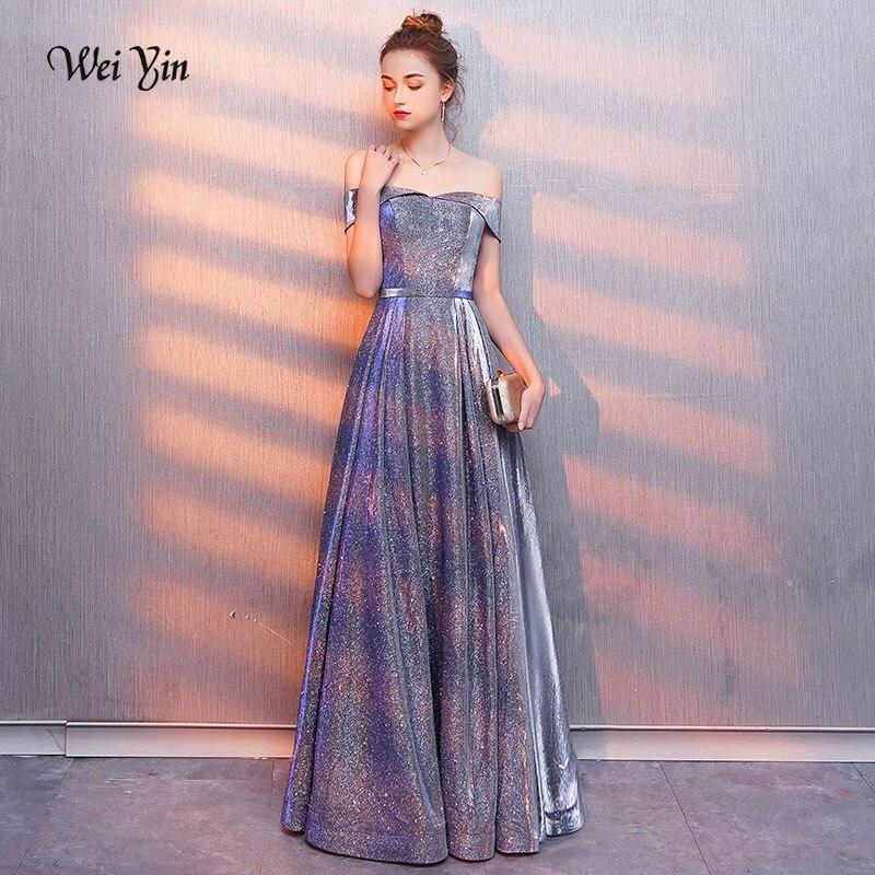 Weiyin 2019 nouveauté robes de soirée longue robe de soirée formelle robe de bal robes en satin robes de festa WY1009