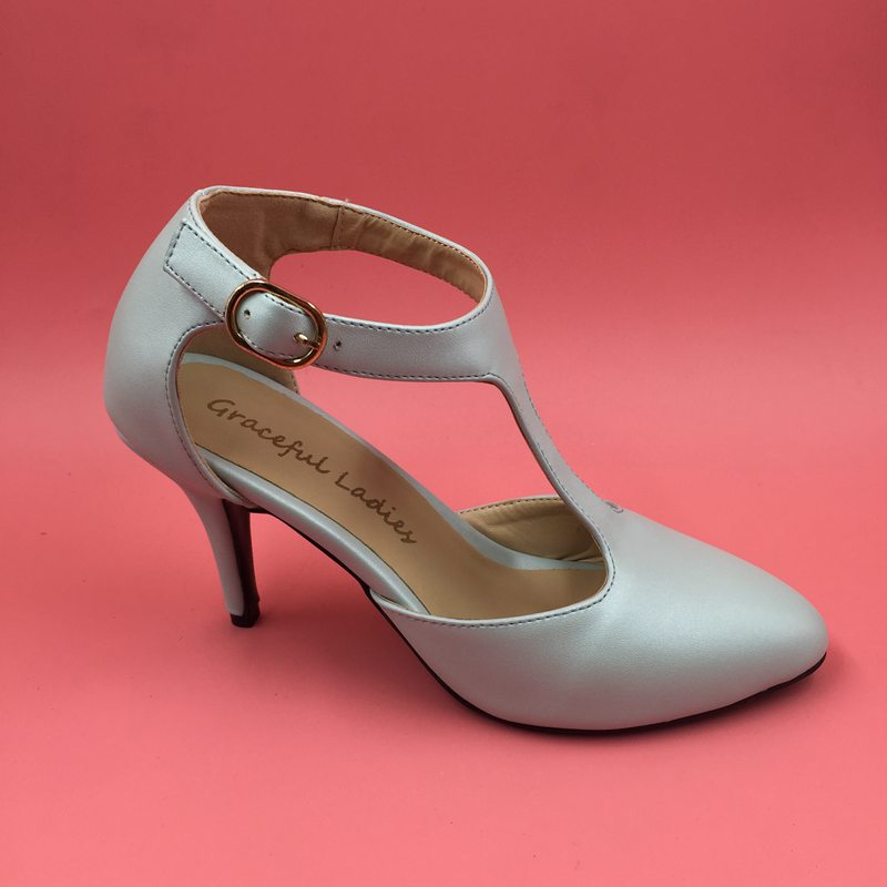 Light Blue  Light Yellow Soft Leather Pumps For T strap Med Heels 3 ... 34f1d5ec80c2