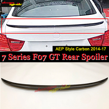 For BMW F07 Series GT 535i 550i 535iGT 550GT True Carbon fiber P style Trunk spoiler wing Rear Spoiler 2014-2017