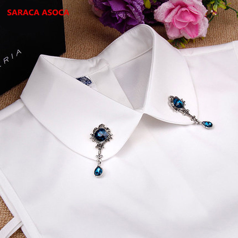 Wholesale Fashion False Collars With Adjustable Band Detachable Fake Collar Women A03-8015