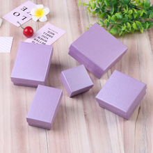 Ziris Gift Box 12 Pcs/Lot Wholesale Purple Kraft Paper Favour Boxes Fashion Design Bulk Necklace Ring Bracelet Jewelry