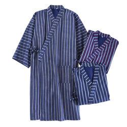 Новый Чистый хлопок кимоно халаты мужчин 2019 летние простые гладкие мужские халаты Длинные рукава SPA повседневные халаты японская одежда