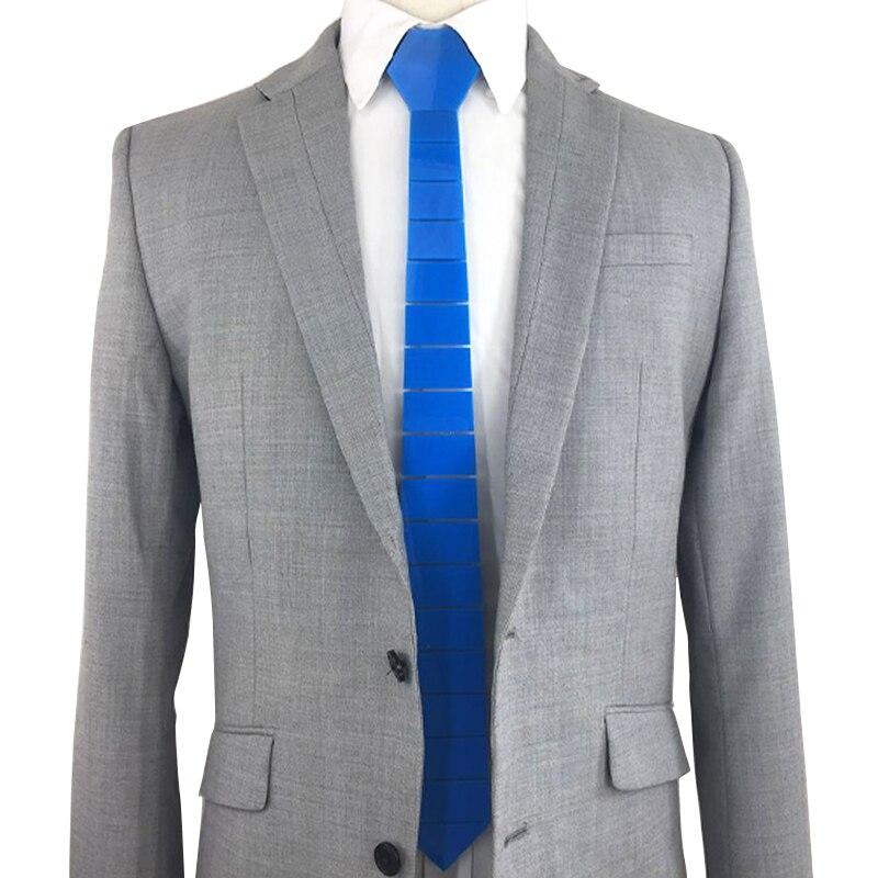 Haute technologie rayé Slim cravates soie Satin bleu Skinny mode cravates classique Paisley bleu brillant bleu cravate mariage