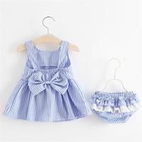 Baby Dresses Underwear 2018 New Arrival Summer Kids Baby Girls Dress Stripe Baby Girl Clothes For