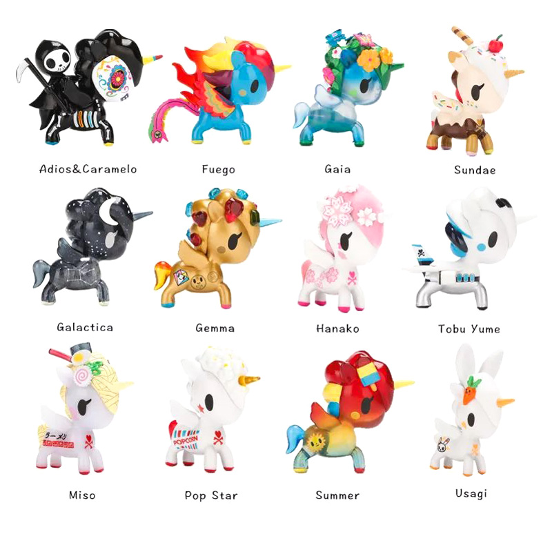 The Sixth Generation Unicorn Action Figure 2018 new Full Set of 12 Kinds of Around 10 CM PVC Unicorn Toy Children's Gift бейсболки atributika