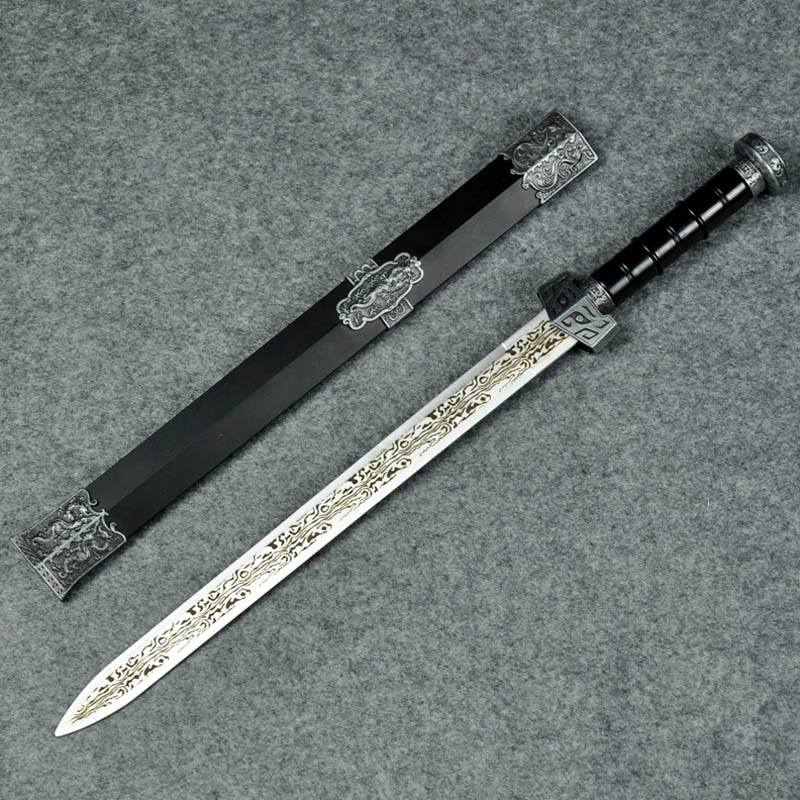 Stainless Steel Self-defense Dagger About 40cm Home Ornament Gift For Adult Toys Home Decor