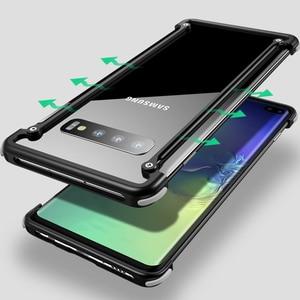 Image 4 - Original Aluminum Metal Bumper Case For Samsung Galaxy S10e Luxury Slim Hard Airbag Drop Protection Case for Samsung S10e Cover