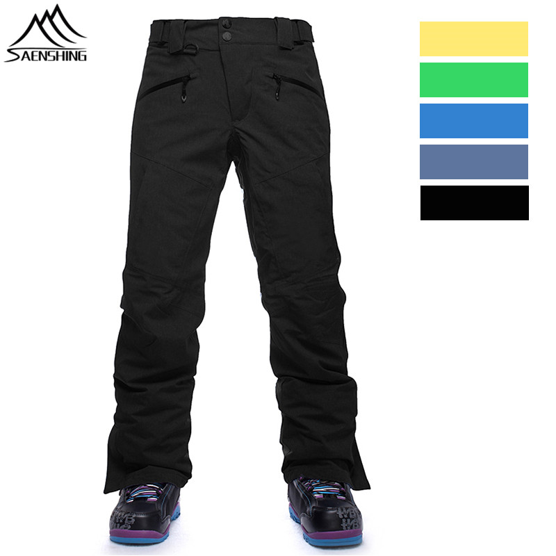SAENSHING Ski Pants Men Waterproof Breathable Thermal Snow Pants Skiing Trousers Male Thicken Warm Windproof Snowboard Pant S-XL gsou snow brand ski pants women waterproof high quality multi colors snowboard pants outdoor skiing and snowboarding trousers