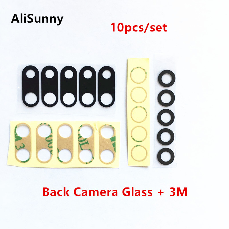 AliSunny 10pcs Back Camera Glass for iPhone 7 8 Plus 6 6S 6Plus 7G 8G 6G 7Plus Rear Camera Cover Lens 3M Sticker Holder Parts