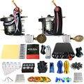 Solong Tattoo 2 Artesanal Máquina GunsTattoo Kits Poder Pé Abastecimento Pedal 20 Copo Conjunto TK201-10 Taty Agulhas Punho Dica Ink