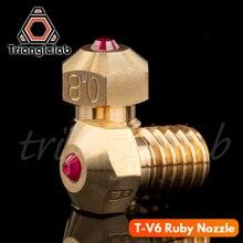 Trianglelab alta temperatura T V6 Rubi HOTEND Bico 1.75 MILÍMETROS para E3D V6 Compatível com PETG ABS PEEK PEI NYLON etc bocal ruby