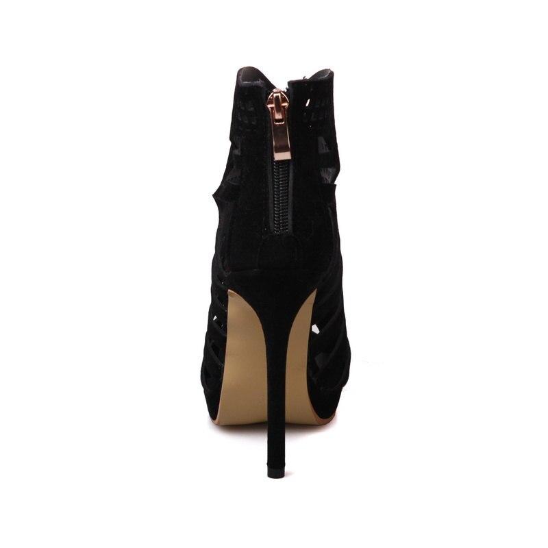 Taille Sandales Rouge Peep Noir Noir Talons La Mode 43 Sexy Évider Cocoafoal 33 Talon À Chaussures rouge Bout Ouvert Femmes Hauteur 32 Plus Orteil twBC60