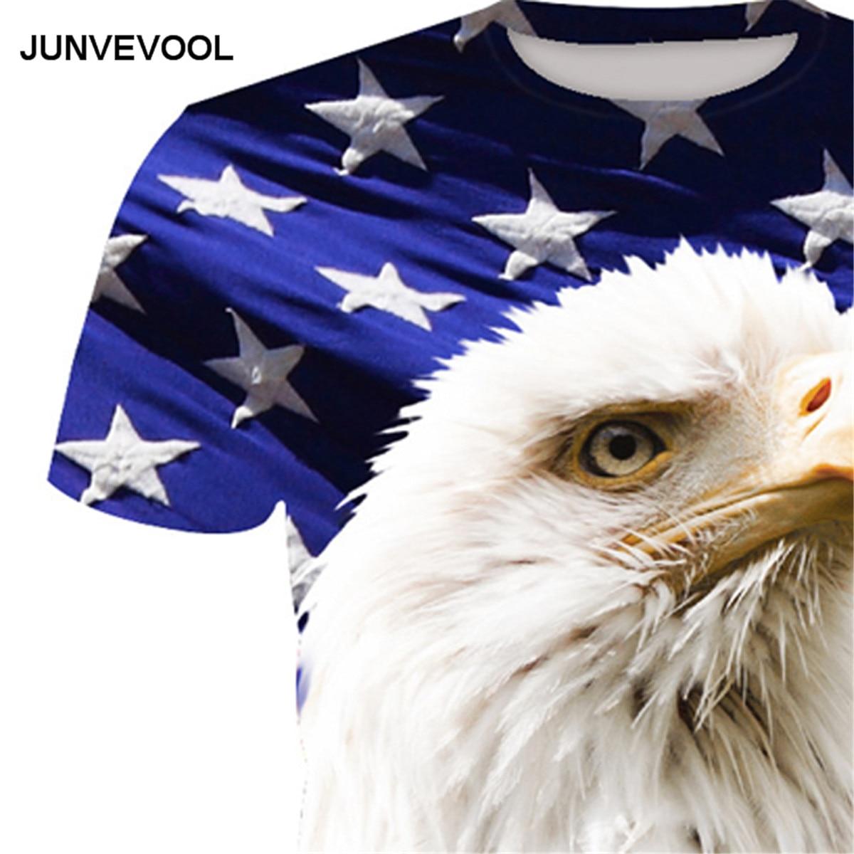 Harajuku Mens T-shirt USA America Flag Eagle 3D Printed tshirts Mens Summer Hip-hop Fitness t shirt Male Funny Men Tops & Tees