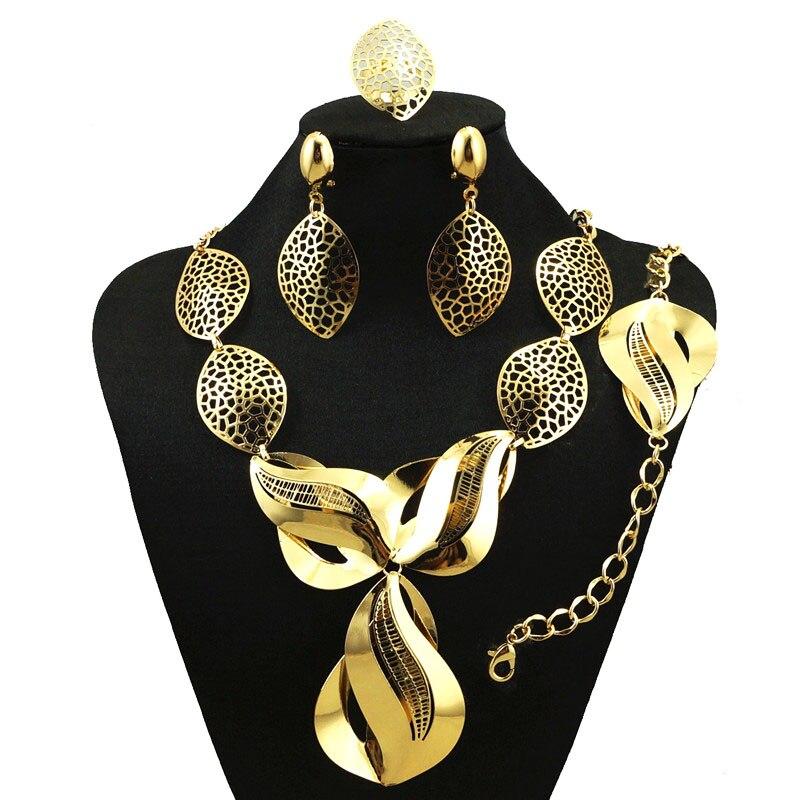 Collar de moda Conjunto de Alta calidad Sistemas de La Joyería Marca Italia Oro