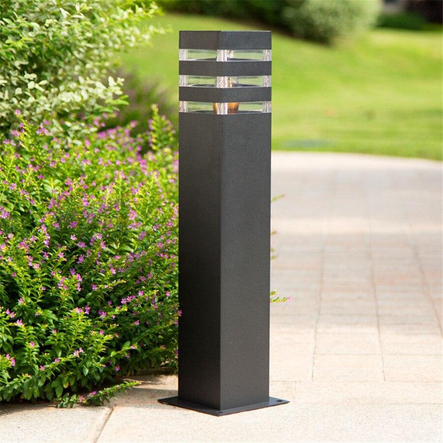 de aluminio paisagem parque rua bollard luz 04