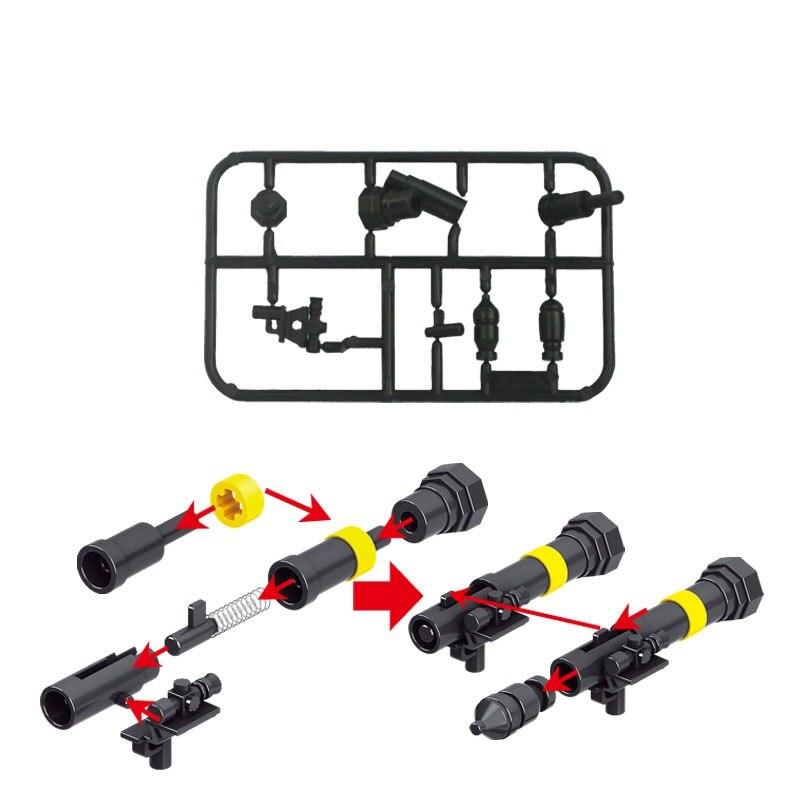 Verrouillage militaire lance-roquettes jouet MOC blocs de construction jouets pour enfants SWAT armée arme Militarys verrouillage jouets cadeaux
