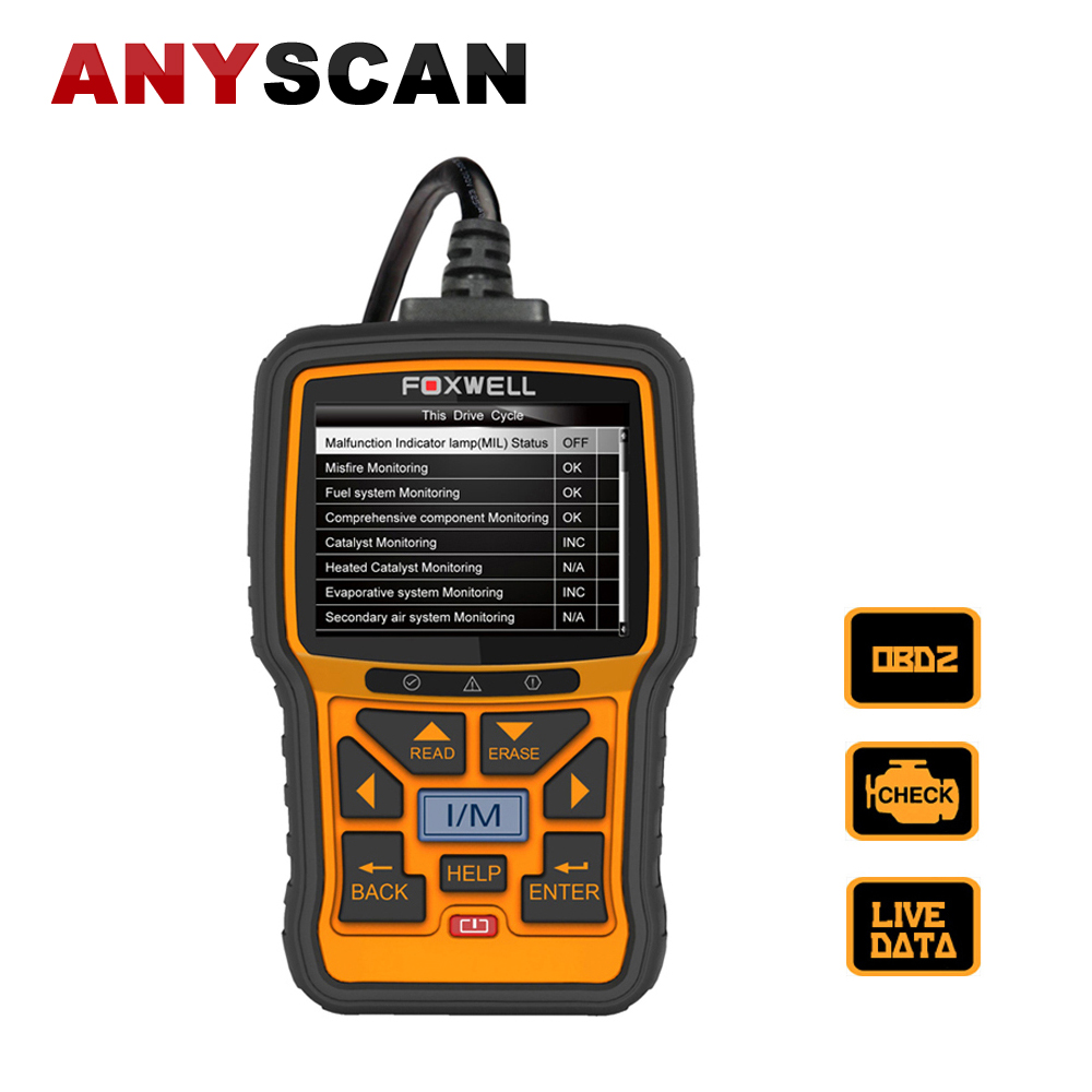 2017 Hot Sale Genuine Foxwell NT301 OBD2 Live Data/Code Engine Reader CAN OBDII/EOBD Fault Code Reader Scan Tool Free Shipping запустите creader vi obd2 obdii eobd code reader multi языки обновления на сайте
