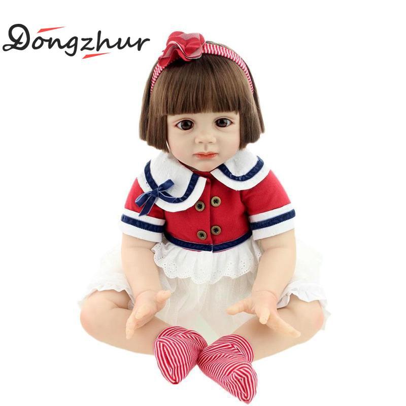60cm High-end Vinyl Silicone Reborn Baby Doll Toy Newborn Princess Girl Doll Holiday Birthday Gift Silicone Reborn Baby Dolls