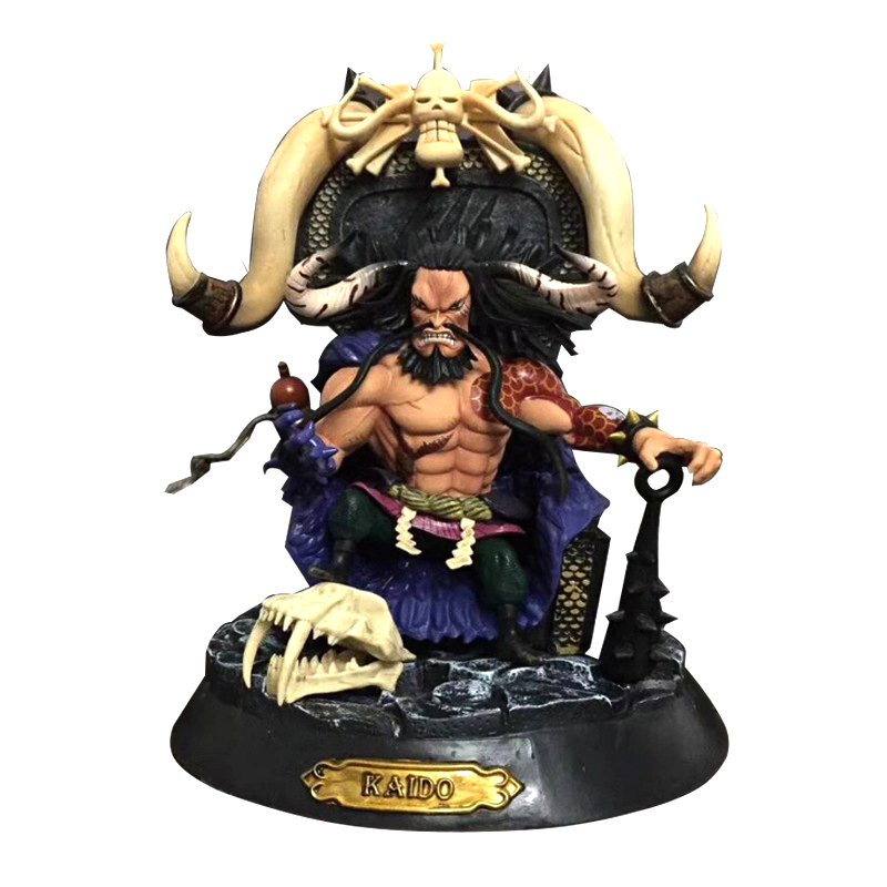 Free Shipping 9 One Piece Anime Four King Kaido Beasts Pirate Boxed 23cm PVC Action Figure Model Collection Doll Toys Gift anime one piece ainilu handsome action pvc action figure classic collection model tot doll