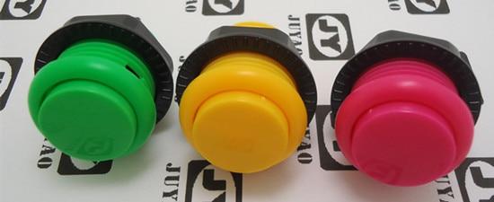 12 piezas de 24mm arcade interruptor de botón momentáneo con tapa de tornillo, orificio de montaje de 24mm