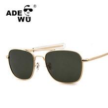 Adewu Brand Designer 2017 Men Polarized AO Sunglasses MILITARY American  Optical Lens James Sun Glasses Hot Ray UV400 Shades e781d245a7