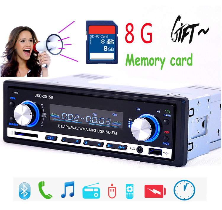 Car Radio Stereo Player Bluetooth Phone AUX-IN MP3 FM/USB/1 Din/remote control For 12V Car Audio Auto 2017 Sale Drop shipping latest car radio bluetooth stereo player audio dvd mp3 player fm usb radio 1 din remote control 12v auto radios