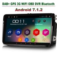 9 Android 7,1 Автомобильный MP3 плеер для VW Tiguan Touran Jetta EOS Авторадио DAB + стерео gps навигация OBD 3g/ 4 г DVR DVB T Bluetooth