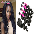 Malaysian Body Wave With Closure 4 Bundles Malaysian Virgin Hair With Closure Wavy Hair Body Wave Weave With Closure Human Hair