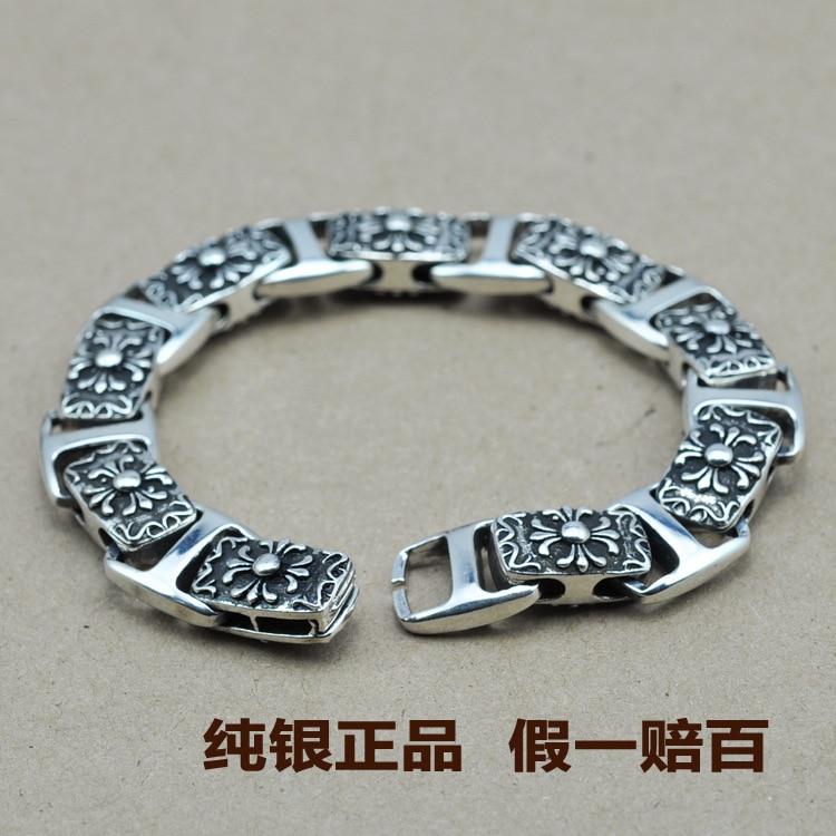 G Bracelet Retro Thai Silver Bracelet Male Boyfriend Grams Of Retro Brand Crosses Classic Special Edition Genuine