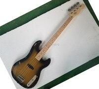 Высокое качество relic 4 струны старый использованный винтажный выцветший электрический бас гитара Ясень тела четкие басы музыкальный инстру