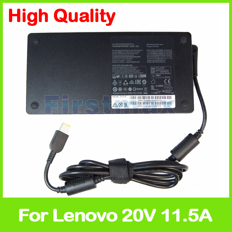 все цены на  20V 11.5A 230W laptop ac power adapter charger for Lenovo Y900-17ISK Y910-27ISH ADL230NDC3A ADL230NLC3A PA-1231-12LA  онлайн