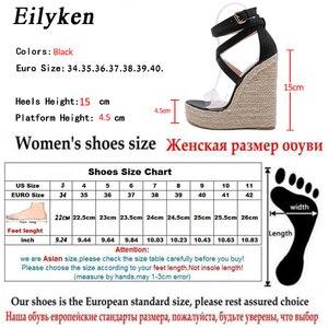 Image 5 - Eilyken Mới Rắn Nữ Mùa Hè Nền Tảng Dép Mở Giày Cao Gót Đế Xuồng Mắt Cá Chân, Khóa Dây Giày Plus Size 35 42