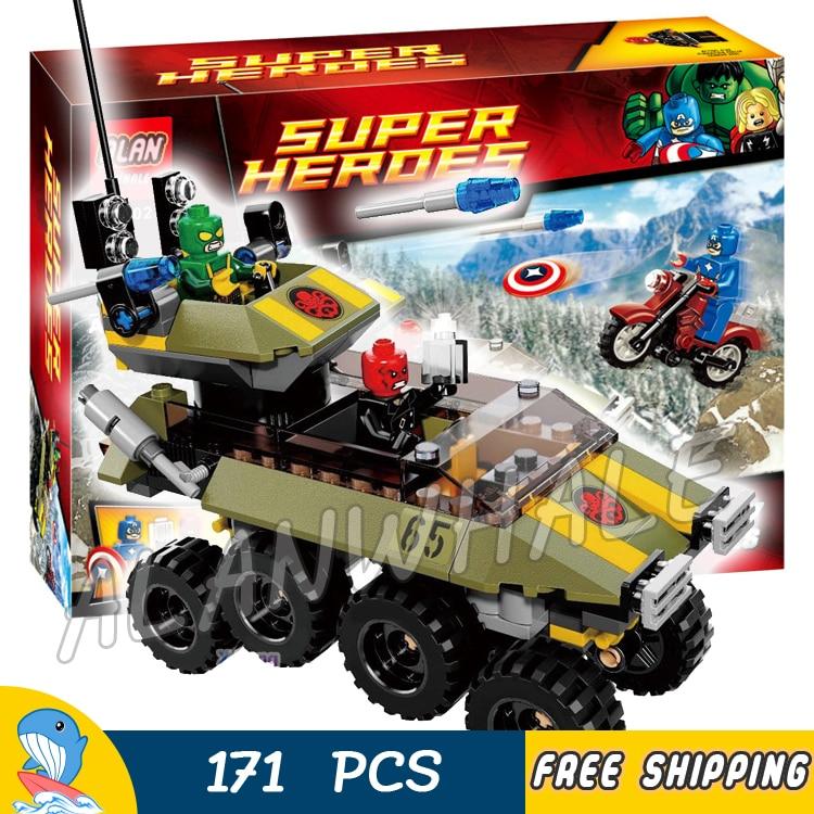 171pcs Super heroes Avengers Captain America vs. Hydra Motorcycle 10238 Model Building Blocks Toys Bricks Compatible With Lego ye 77021 building blocks super heroes avengers dino world dinosaur model bricks assemble toys for children kids gift